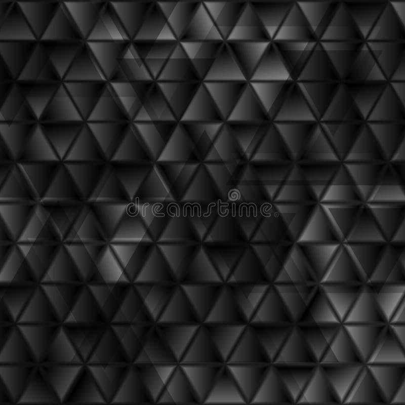 Abstrakcjonistycznych techniki czerni glansowanych trójboków geometryczny tło royalty ilustracja