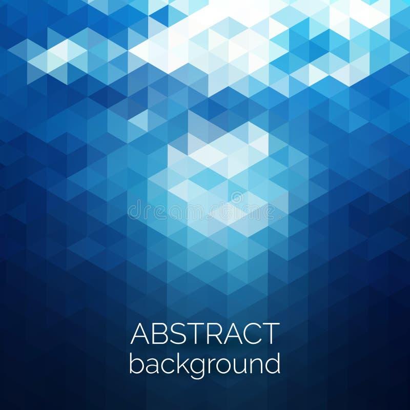 Abstrakcjonistycznych trójboków deseniowy tło Błękitne wody geometryczny plecy royalty ilustracja