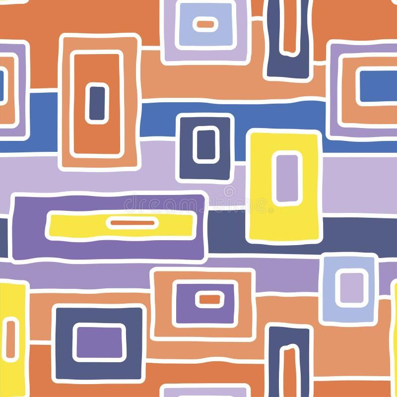 Abstrakcjonistycznych tubylczych białych ścieżek wektorowy bezszwowy wzór ilustracja wektor