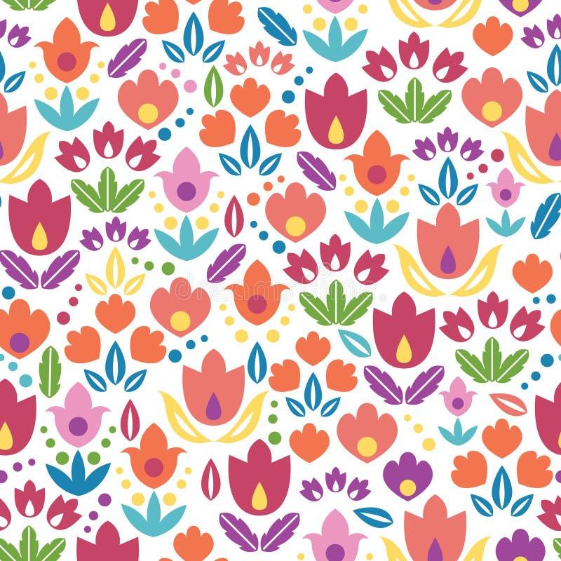 Abstrakcjonistycznych tulipanów bezszwowy deseniowy tło ilustracja wektor