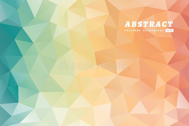 Abstrakcjonistycznych wieloboków stubarwny tło ilustracja wektor