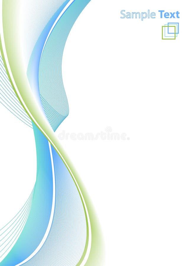 abstrakcjonistycznych wzór papierowy linii royalty ilustracja