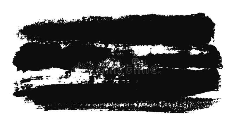 Abstrakcyjna animacja obrysu pędzla czarnego na białym kawałku papieru. Animacja. Czarno-białe minimatyczne ilustracja wektor