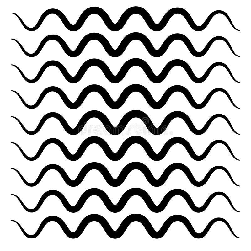 Abstrakcyjna czarno-biała seria geometryczna z różnymi grafikami w zestawie ilustracji