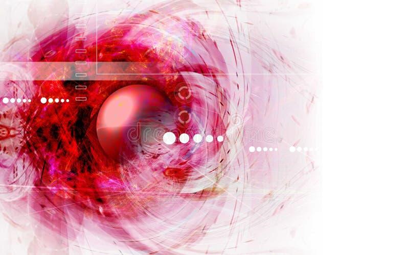 Download Abstrakcyjna czerwone tło ilustracji. Ilustracja złożonej z globe - 38352