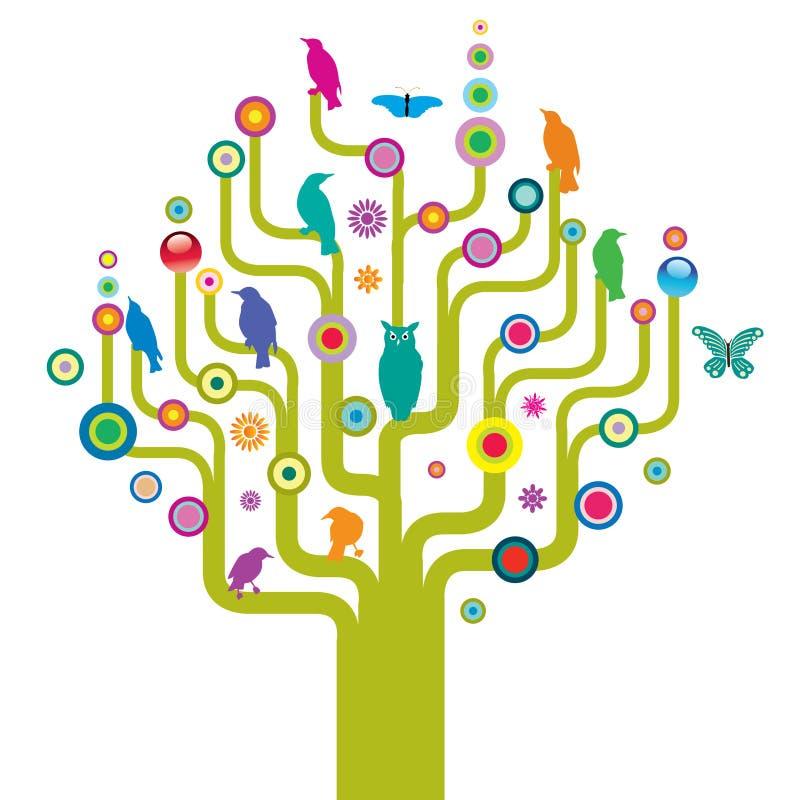 abstrakcyjna dzikich drzew royalty ilustracja