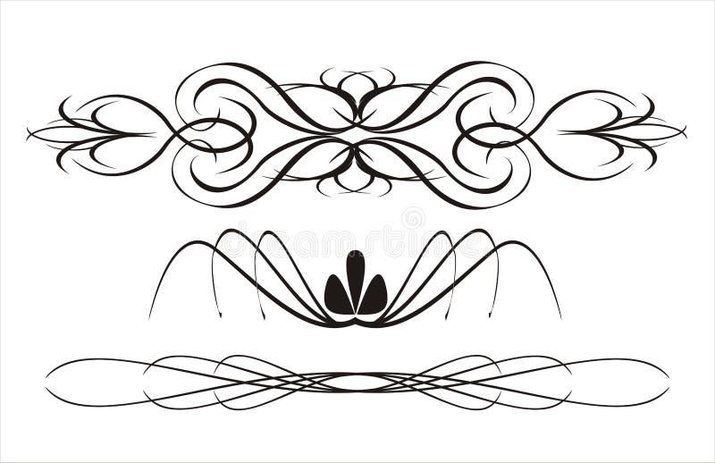 abstrakcyjna kaligrafii ilustracja wektor