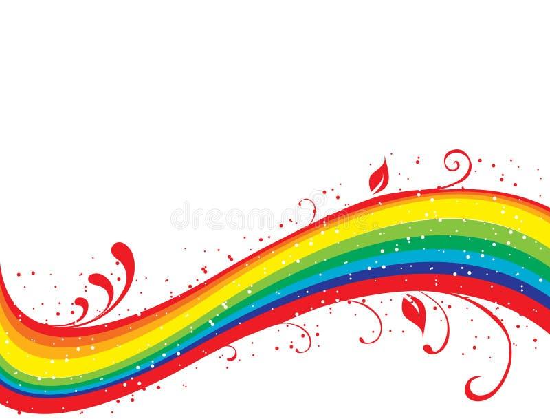 abstrakcyjna kwiecista rainbow ilustracja wektor
