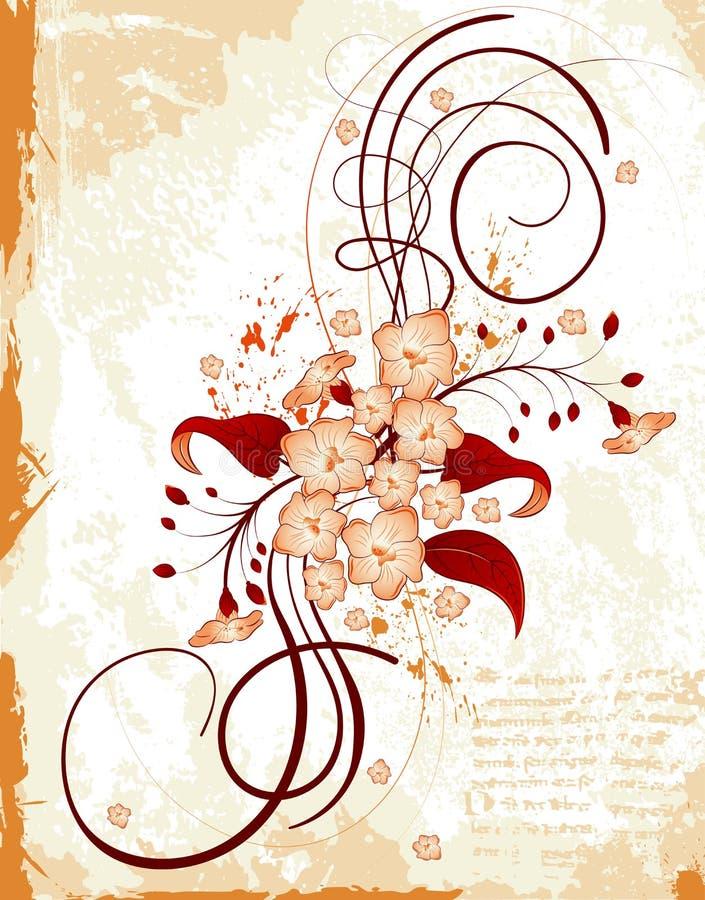 abstrakcyjna kwiecista rama ilustracji