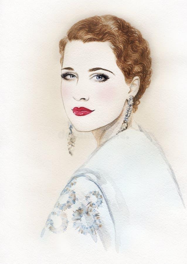 Download Abstrakcyjna Portret Kobiety Fałszywy Mody Tła Komputerowy Ekranu Ilustracji - Ilustracja złożonej z glassful, luksusowy: 57657645
