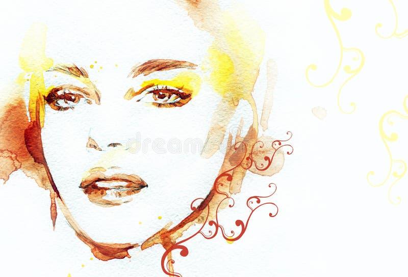 Download Abstrakcyjna Portret Kobiety Fałszywy Mody Tła Komputerowy Ekranu Ilustracji - Ilustracja złożonej z abstrakt, arte: 57657798
