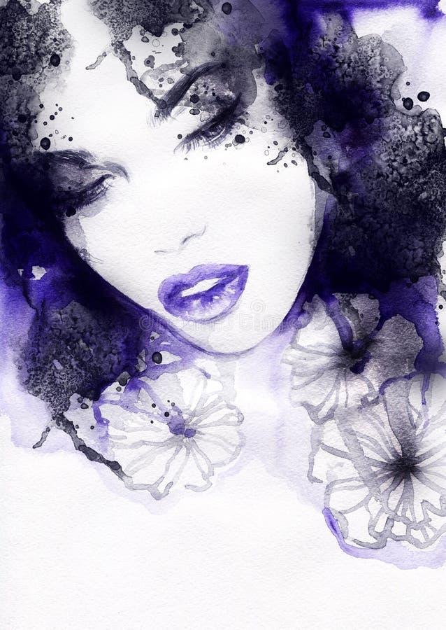Download Abstrakcyjna Portret Kobiety Fałszywy Mody Tła Komputerowy Ekranu Ilustracji - Ilustracja złożonej z makeup, dziewczyna: 57657911