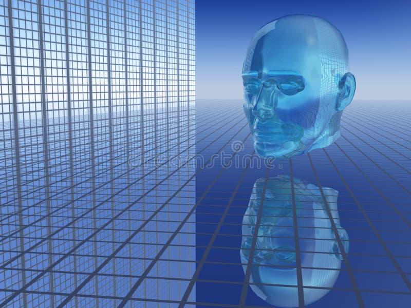abstrakcyjna przyszłości gospodarczej głowy ilustracja wektor