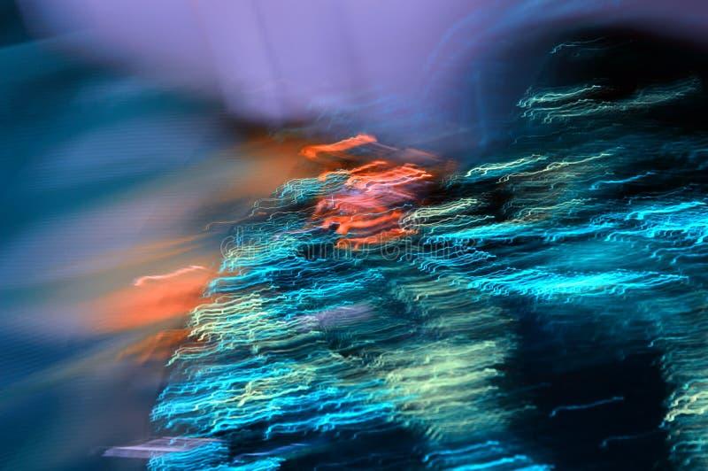 Abstrakcyjne kolorowe tło Sztuka cyfrowa Droga mgła Światła północne fotografia stock