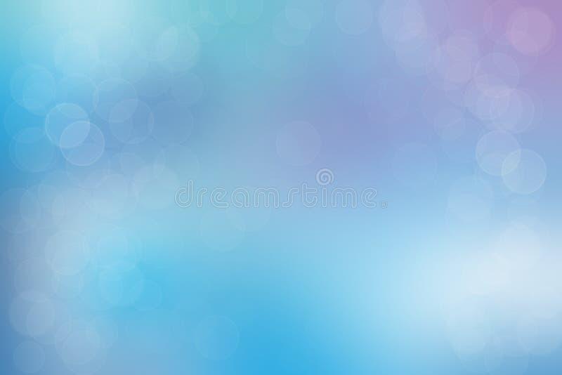 Abstrakcyjne niebieskie purpurowe pastele z rozmytymi kółkami royalty ilustracja