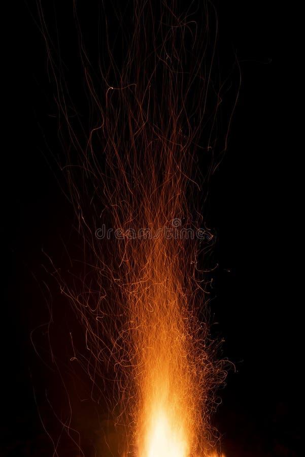 Abstrakcyjne tło iskier pomarańczowych zdjęcia stock