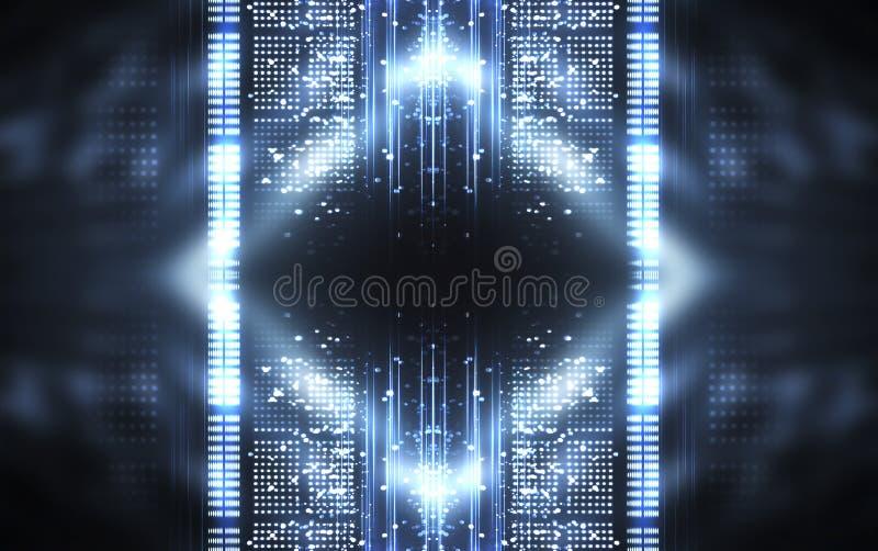 Abstrakcyjne tło Linie i światła punktowe Pusta ciemna scena zdjęcia stock