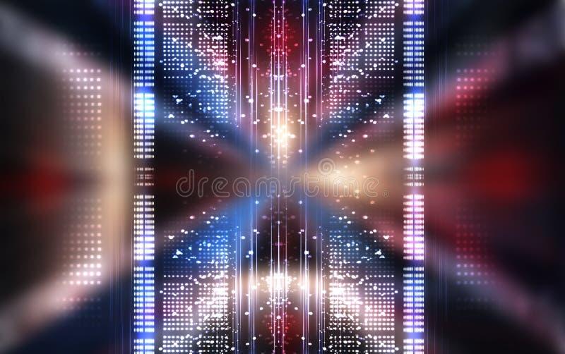 Abstrakcyjne tło Linie i światła punktowe Pusta ciemna scena zdjęcie stock