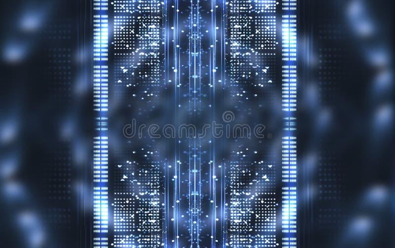 Abstrakcyjne tło Linie i światła punktowe Pusta ciemna scena zdjęcia royalty free