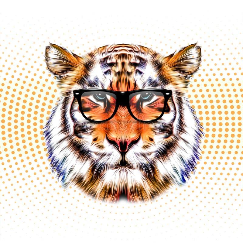 Abstrakcyjne tło tygrysa ilustracji