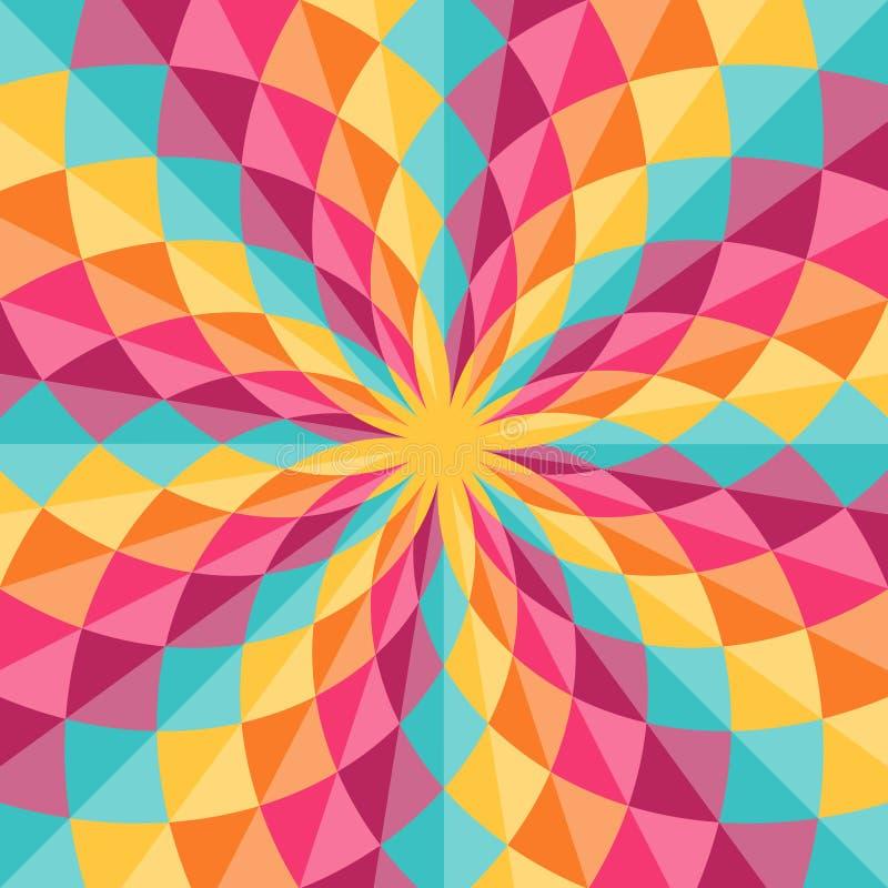 abstrakcyjny geometryczny wzór ilustracja wektor