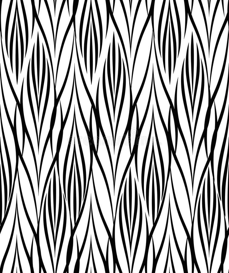 abstrakcyjny geometryczny wzór Bezszwowy kreskowy czarny i biały orname ilustracja wektor