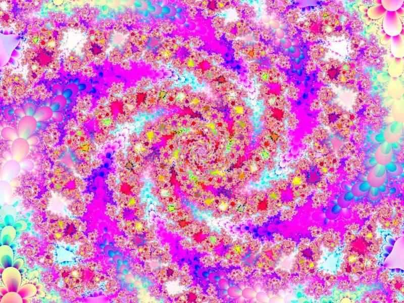abstrakcyjny kwiecisty wzór ślimakowata konstrukcji ilustracji