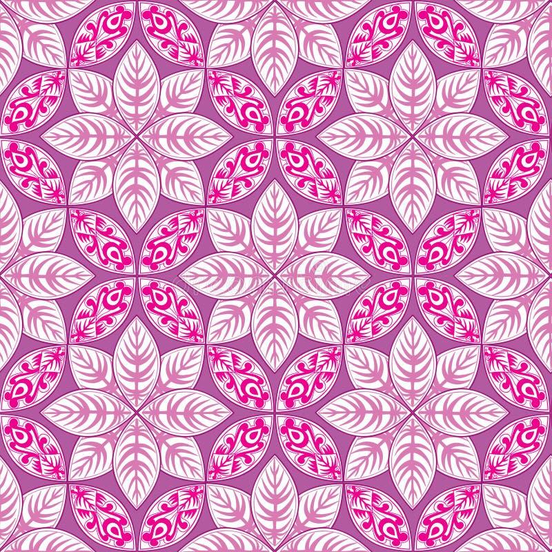 abstrakcyjny kwiecisty wzór Geometrycznego ornamentu bezszwowy tło ilustracji