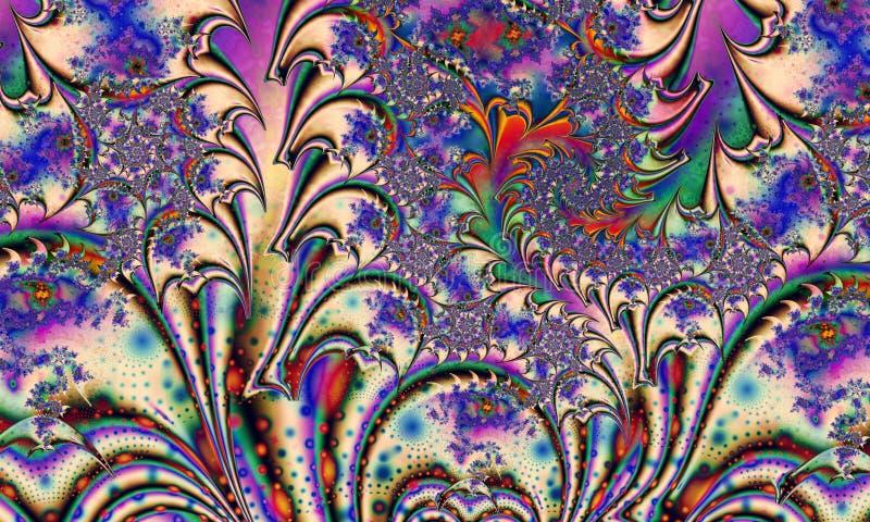 abstrakcyjny kwiecisty wzór Szkło kwiaty royalty ilustracja