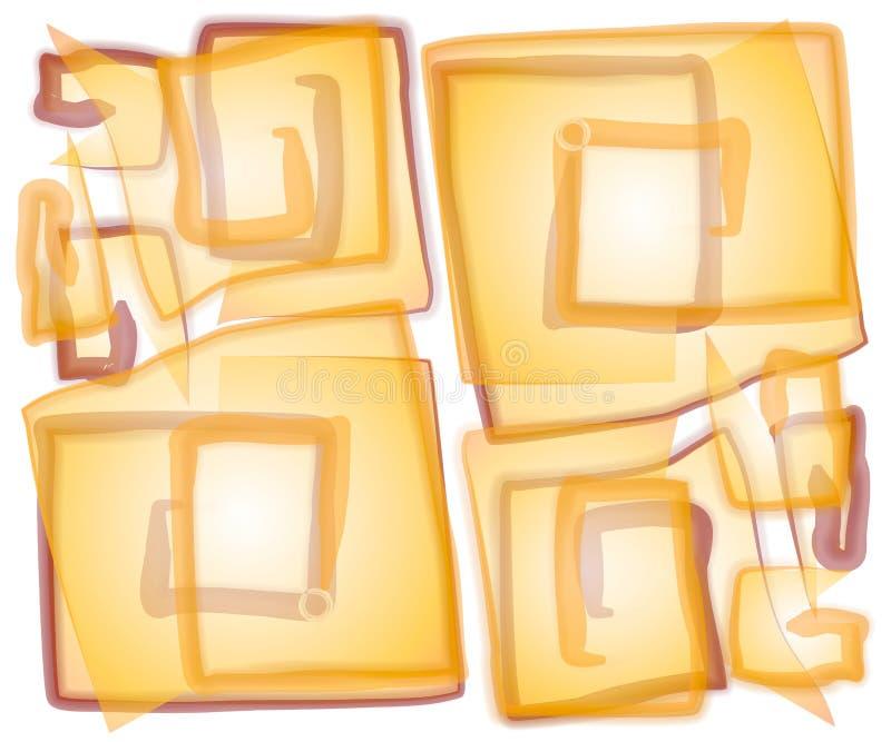 abstrakcyjny nieprzezroczyste spirala square royalty ilustracja
