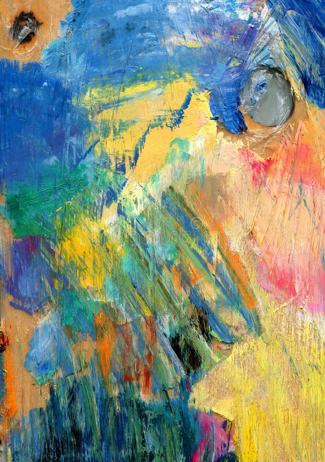 abstrakcyjny tło kolorowa paleta Rysujący ręką zdjęcia stock