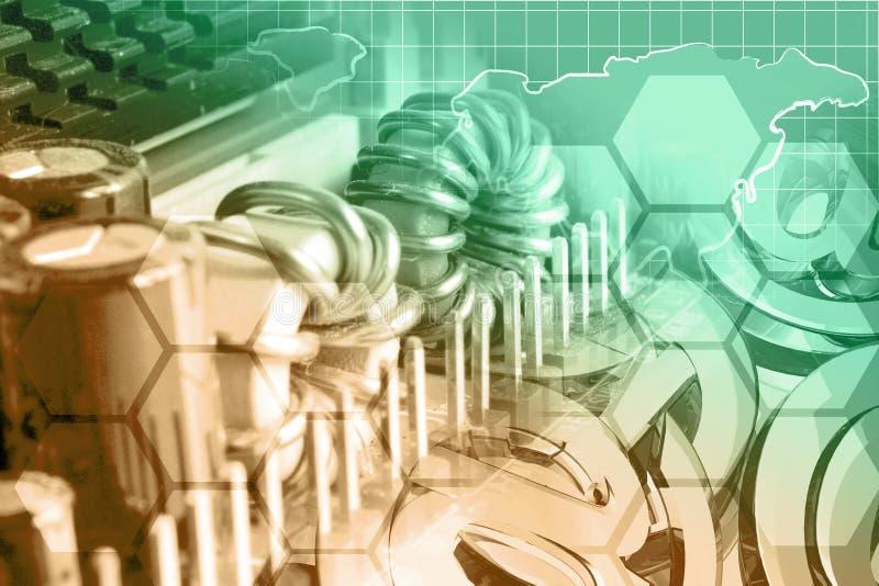 abstrakcyjny tło składu konceptualny komputer zdjęcie stock