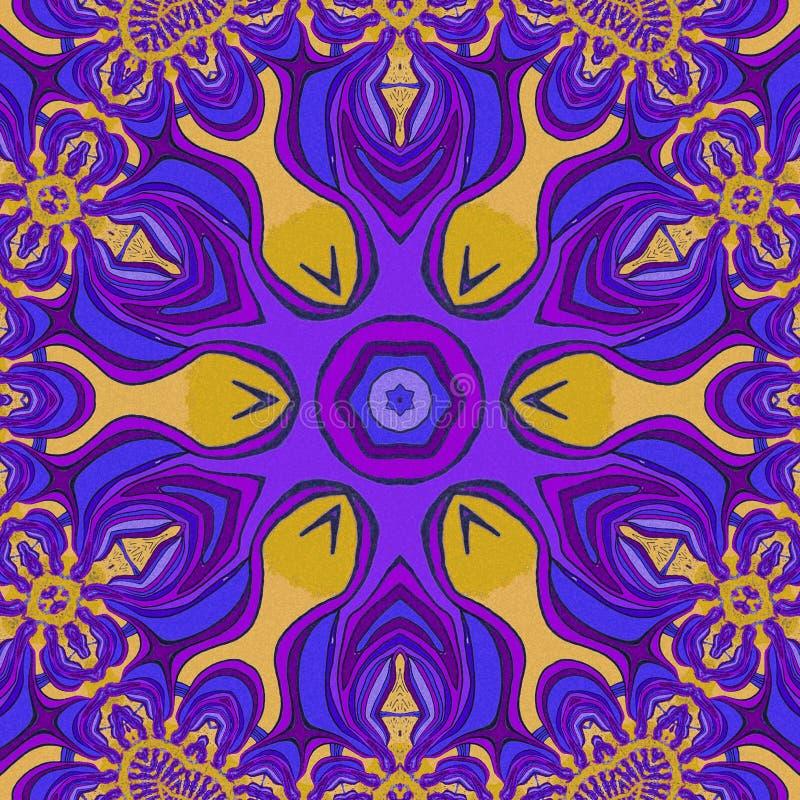 abstrakcyjny tło Fiołek, światło i błękitów kolory, - pomarańcze royalty ilustracja