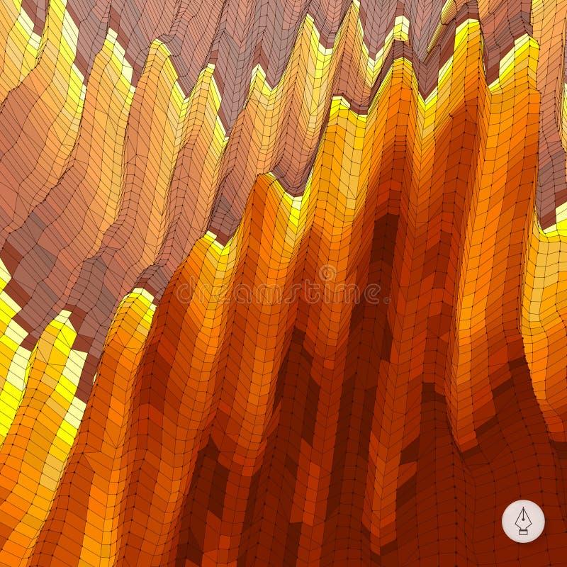 abstrakcyjny tło krajobrazu Mozaika wektor ilustracji