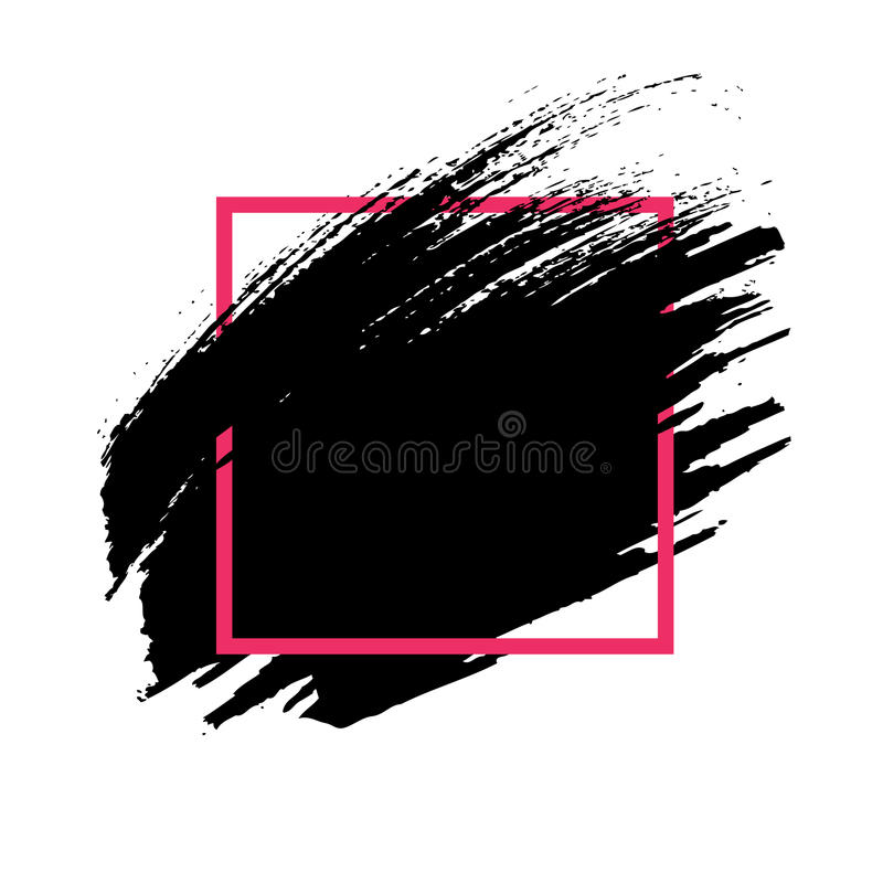 abstrakcyjny tło Ręka malujący atramentu czerni muśnięcia uderzenie royalty ilustracja