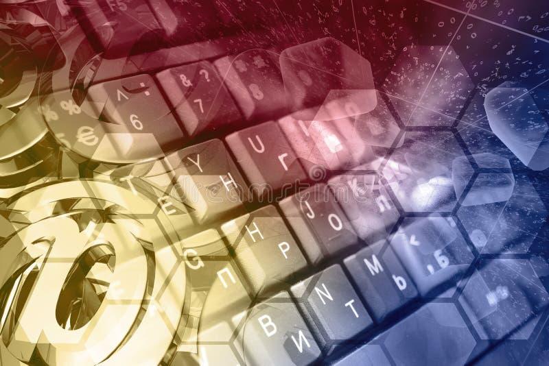 abstrakcyjny tło składu konceptualny komputer zdjęcie royalty free