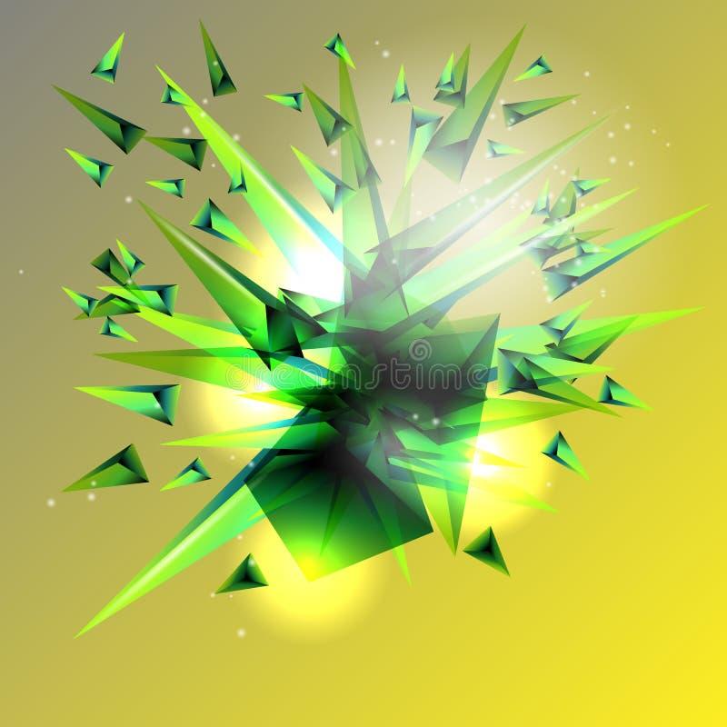 abstrakcyjny tło Wybuch barwioni trójboki ilustracja wektor