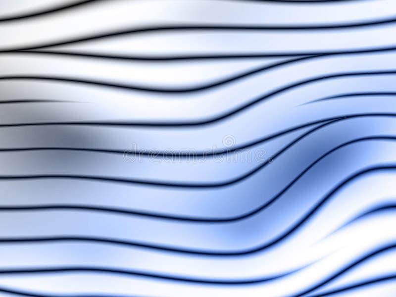 abstrakcyjny tło zakrzywione lustrzanym ilustracja wektor