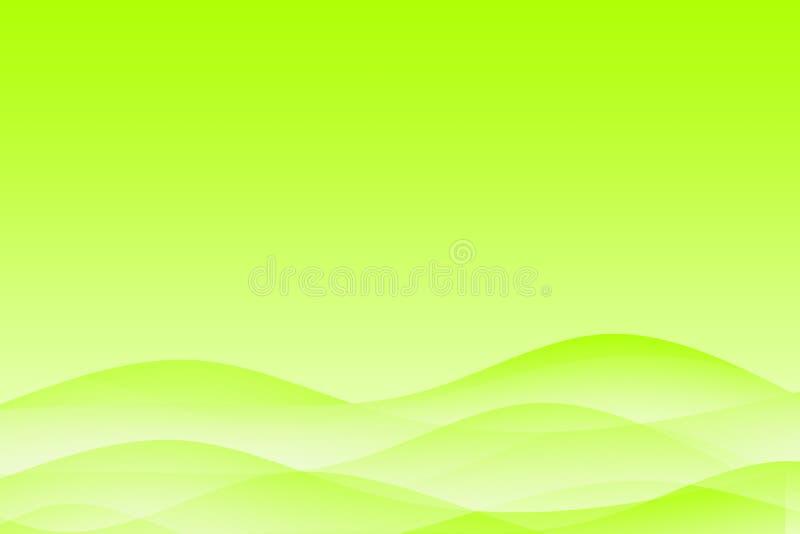 abstrakcyjny tło zielone kojący falisty ilustracja wektor