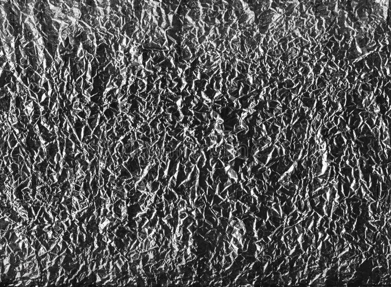 abstrakcyjny tło Zmięta folia papieru tekstura obraz stock