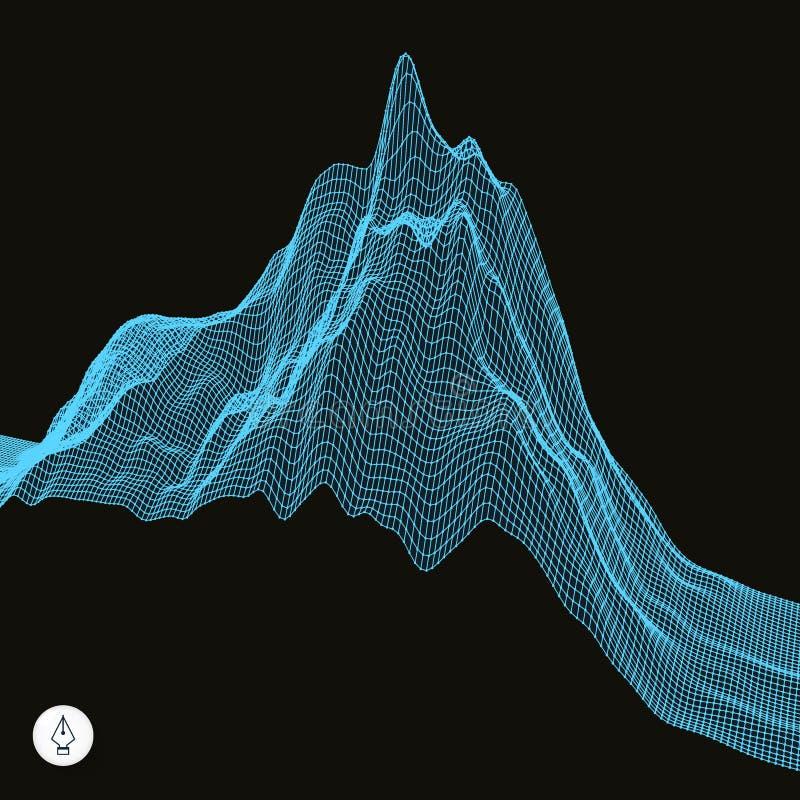 Download Abstrakcyjny Tło Krajobrazu Cyberprzestrzeni Siatka Ilustracja Wektor - Ilustracja złożonej z krajobraz, ziemia: 53785103
