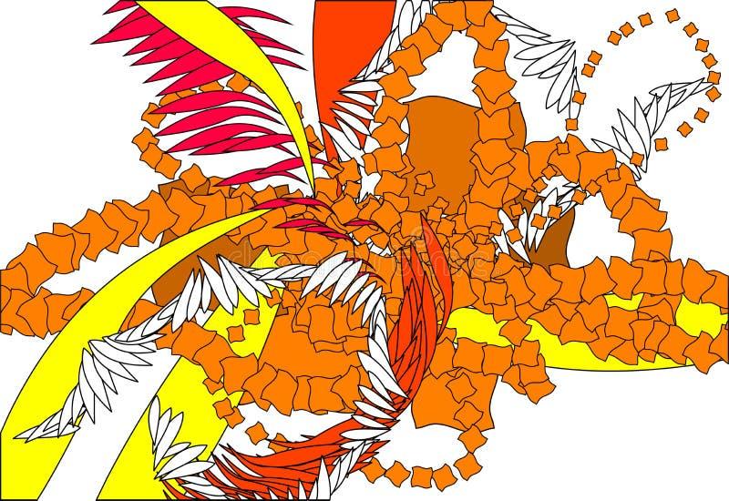 abstrakcyjny upadku liści schematu ilustracja wektor