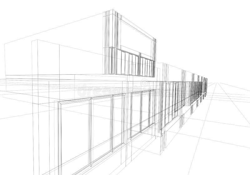 abstrakcyjny wireframe ilustracja wektor