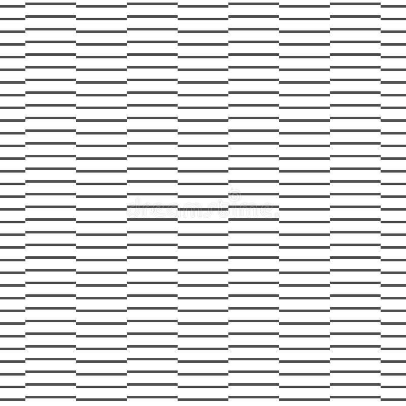 Abstrakcyjny wzorzec czarno-białej linii poziomej na siebie Nowoczesny stylowy Projektowa tekstura geometryczna dla druku, wektor ilustracji