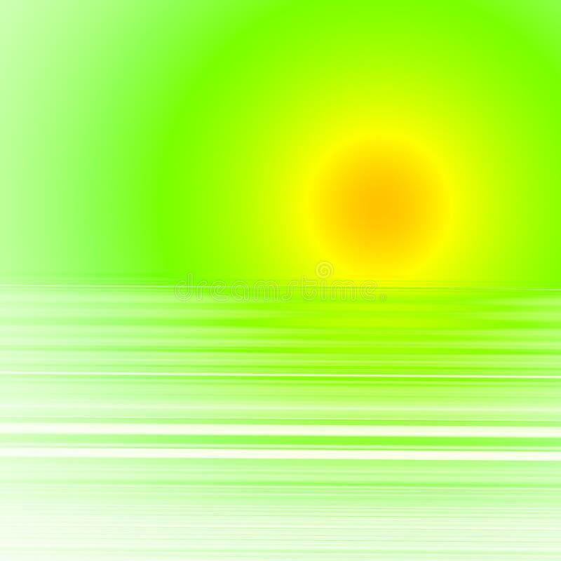 abstrakcyjny zachodzącego słońca ilustracji