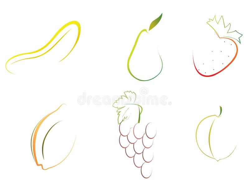 abstrakcyjnych owoców royalty ilustracja