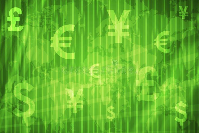 abstrakcyjnych tła globalnych waluty ilustracja wektor