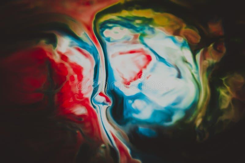 Abstraktów kolory mieszający wpólnie zdjęcie stock
