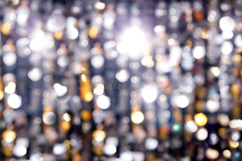 Abstraktów światła, błyskowy okrąg, nocy miasto obrazy royalty free
