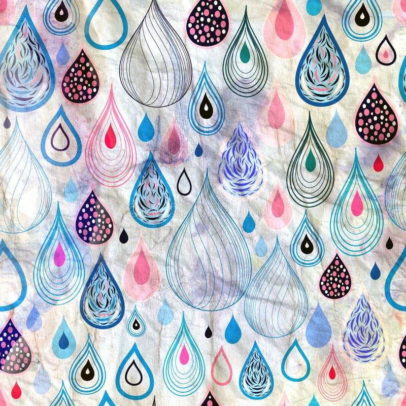 Abstraktów deseniowi raindrops royalty ilustracja